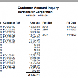 Customer Account Inquiry